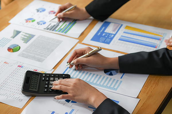 A person reviewing financial health of your business